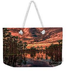 Majestic Cypress Paradise Sunset Weekender Tote Bag