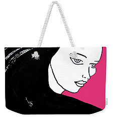 Majestic Lady J0715c Honeysuckle Pink Pastel Painting 18-2120 Da4f70 E53679 Weekender Tote Bag