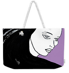 Majestic Lady J0715h Radient Orchid Pastel Painting 18-3224 B565a7 A985bb Weekender Tote Bag