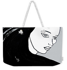 Majestic Lady J0715i Shadow Gray Pastel Painting 16-1509 Bba5a0 C6cacc Weekender Tote Bag