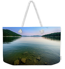 Majestic Lake Weekender Tote Bag