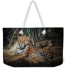 Majestic Leopard Weekender Tote Bag