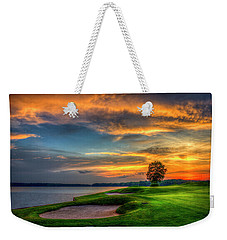 Weekender Tote Bag featuring the photograph Majestic Number 4 The Landing Reynolds Plantation Art by Reid Callaway