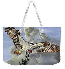Majestic Sea Hawk Weekender Tote Bag by Phyllis Beiser