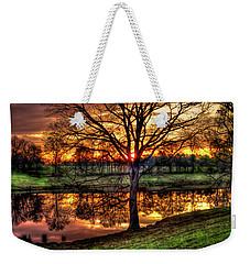 Majestic Sunrise Reflections Art Weekender Tote Bag