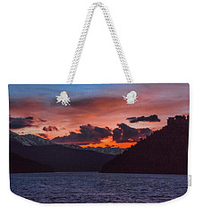 Majestic Sunset In Summit Cove Weekender Tote Bag