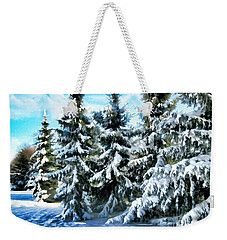 Majestic Winter In New England  Weekender Tote Bag