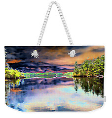 Weekender Tote Bag featuring the digital art Majesty by Daniel Hebard