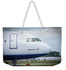 Weekender Tote Bag featuring the photograph Major Blue by Guy Whiteley