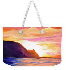 Makana Sunset Weekender Tote Bag by Marionette Taboniar