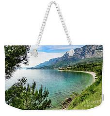 Makarska Riviera White Stone Beach, Dalmatian Coast, Croatia Weekender Tote Bag