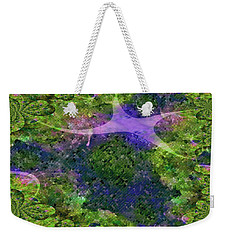 Weekender Tote Bag featuring the digital art Make A Wish by Claire Bull