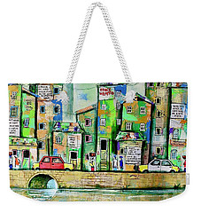 Make Art Not War Weekender Tote Bag