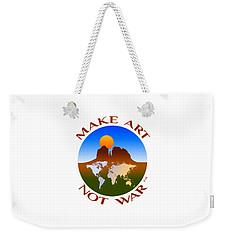 Make Art Not War Logo Weekender Tote Bag