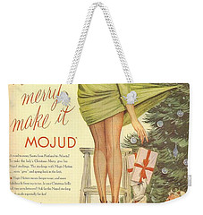 Weekender Tote Bag featuring the digital art Make It Merry...make It Mojud by Reinvintaged
