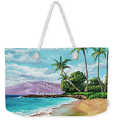 Weekender Tote Bag featuring the painting Makila Beach by Darice Machel McGuire