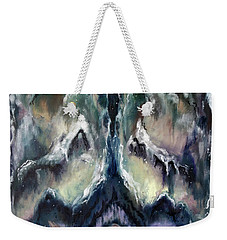 Weekender Tote Bag featuring the painting Making Angels 2 - The Wings by Cheryl Pettigrew
