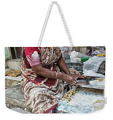 Making Chapatti Weekender Tote Bag by Marion Galt