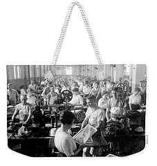 Making Money At The Bureau Of Printing And Engraving - Washington Dc - C 1916 Weekender Tote Bag by International  Images