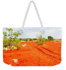 Making Tracks In The Dunes - Red Centre Australia Weekender Tote Bag
