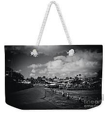 Weekender Tote Bag featuring the photograph Mala Wharf Ala Moana Street Lahaina Maui Hawaii by Sharon Mau