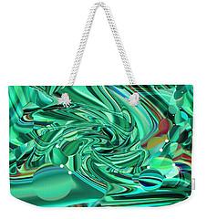 Malachite Green Sea Bubbles Weekender Tote Bag