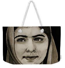 Malala Yousafzai- Teen Hero Weekender Tote Bag by Michael Cross