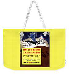 Malaria Mosquito Weekender Tote Bag