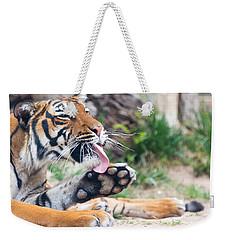 Malayan Tiger Grooming Weekender Tote Bag