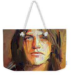 Malcolm Young Acdc Tribute Portrait Weekender Tote Bag
