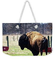 Male Bison Weekender Tote Bag