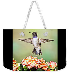 Male Black-chinned Hummingbird Weekender Tote Bag