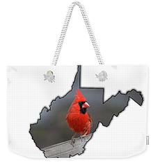 Male Cardinal One Of The Most Recognizable Birds Weekender Tote Bag