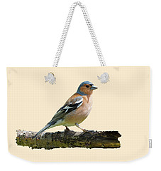 Male Chaffinch, Transparent Background Weekender Tote Bag