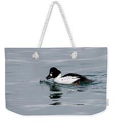 Male Common Goldeneye Weekender Tote Bag