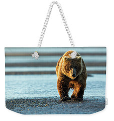Male Grizzly At Low Tide Weekender Tote Bag