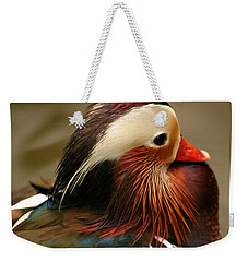 Male Mandarin Duck China Weekender Tote Bag by Ralph A  Ledergerber-Photography