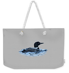Weekender Tote Bag featuring the digital art Male Mating Common Loon by Daniel Hebard