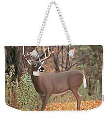 Male Mule Deer Painting Weekender Tote Bag by Walter Colvin