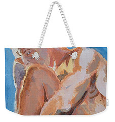 Male Nude Painting Weekender Tote Bag