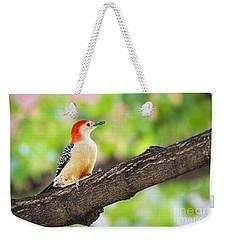 Male Red-bellied Woodpecker Weekender Tote Bag