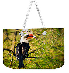 Male Von Der Decken's Hornbill Weekender Tote Bag