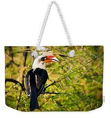 Male Von Der Decken's Hornbill Weekender Tote Bag by Adam Romanowicz