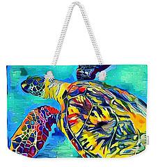 Malia The Turtle Weekender Tote Bag by Erika Swartzkopf