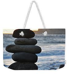 Weekender Tote Bag featuring the photograph Malibu Balanced Rocks by Kyle Hanson