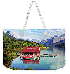 Maligne Lake Boathouse Weekender Tote Bag