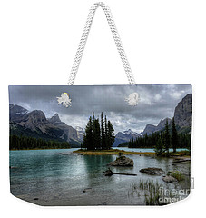 Maligne Lake Spirit Island Jasper National Park Alberta Canada Weekender Tote Bag