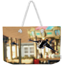 Mallard Duck And Carousel Weekender Tote Bag by Geraldine Scull