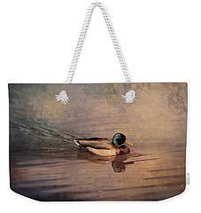 Mallard Duck On The Lake Weekender Tote Bag