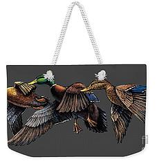Mallard Ducks In Flight Weekender Tote Bag